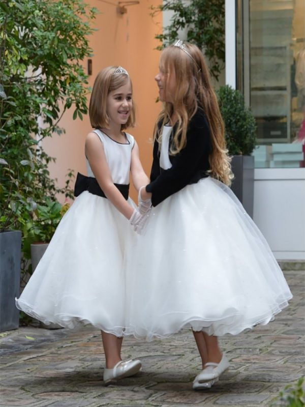 robe-de-crotege-diamant-ecru-noire-plus-bolero