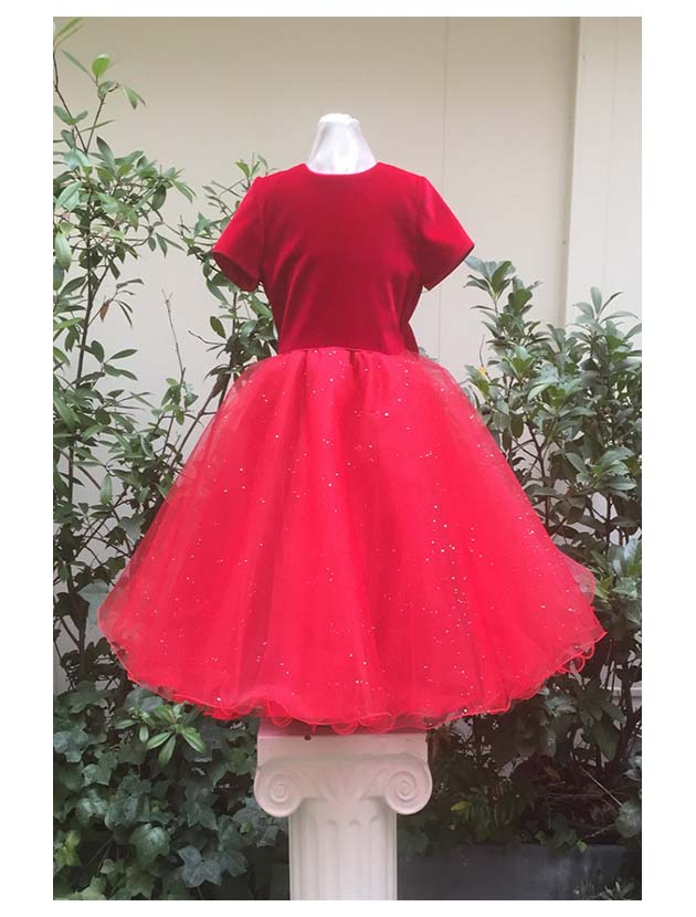 robe diamant velours rouge edelweiss paris. Black Bedroom Furniture Sets. Home Design Ideas
