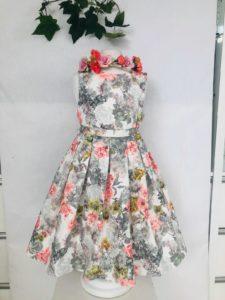 Robe imprimé gris 49 euro robe en coton double coton