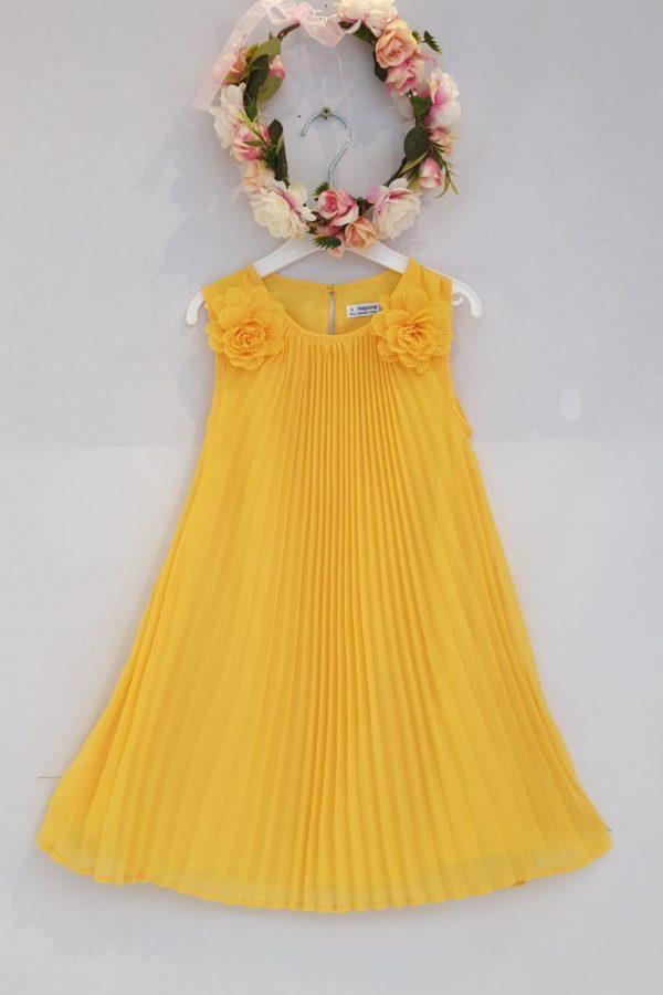 Robe plissée jaune 46 euros robe plissée doublée coton du 2 ans au 9 ans