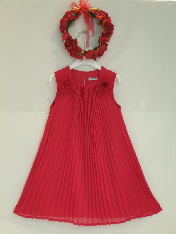 Robe plissée rouge 46 euros robe plissée du 2 ans au 9 ans