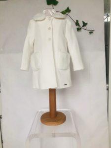 Manteau bapteme manteau Mayoral écru 45 euros du 1 ans au 3 ans