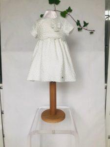 robe de bapteme courte robe de bapteme Mayoral ECRU argent 36 euros du 6 mois au 3 ans