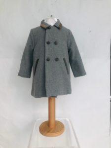 Layette garçon manteau patachou gris 95 euros du 1 ans au 3 ans