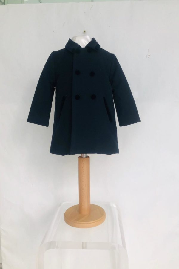 Layette garçon manteau patachou marine 95 euros du 1ans au 3 ans
