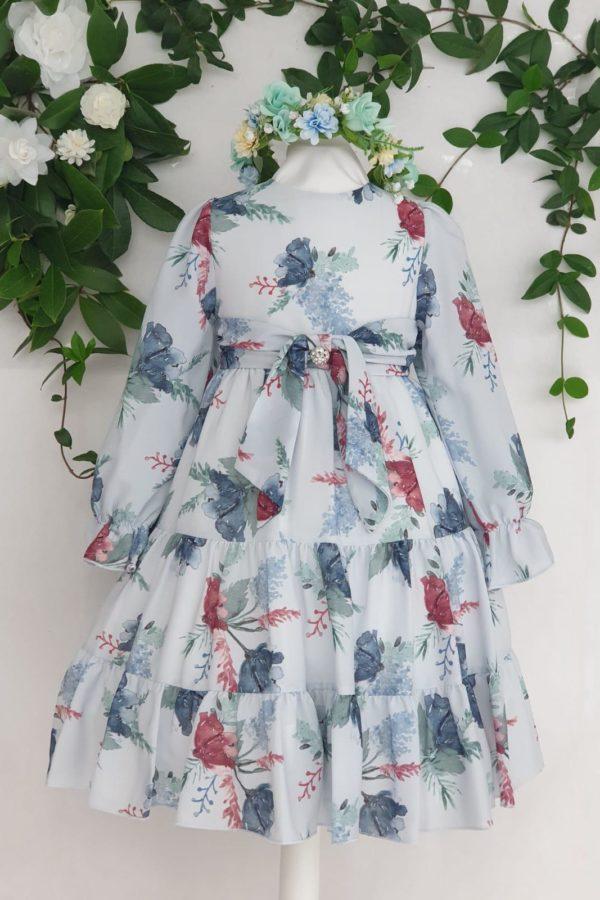 Fille robe patachou fleuris bleu 80 euros du 4 ans au 14 ans