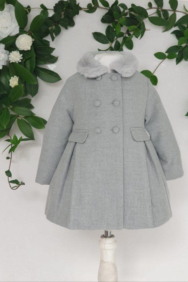 Layette fille manteau patachou gris 85 euros du 1 ans au 3 ans