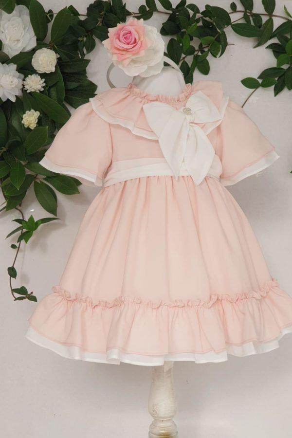 Layette fille robe bicolore patachou 65 euros de 1 ans au 3 ans