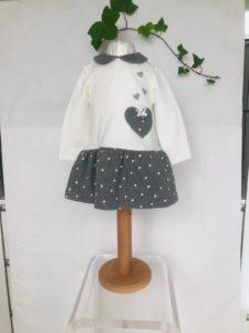 Robe mayoral cœur gris du 3 mois au 18 mois 29 euros