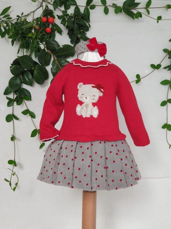 Robe chat rouge Mayoral 32 euros du 3 mois au 18 mois