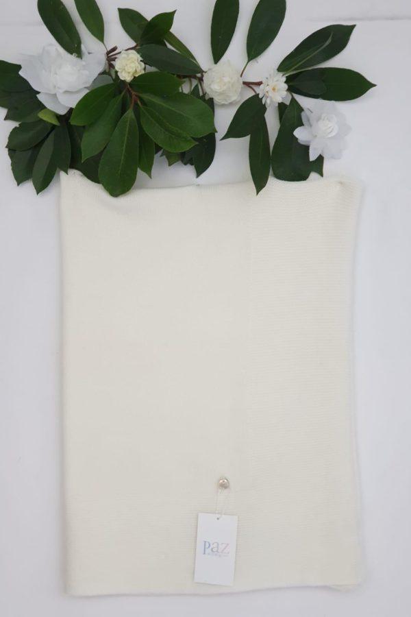 Châle Paz blanc cassé 69 euros châle blanc cassé 100% laine