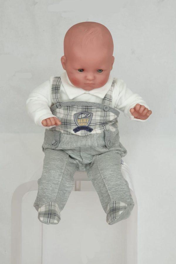 Layette garçon pyjama écossaise gris 25 euros du 1 mois au 6 mois