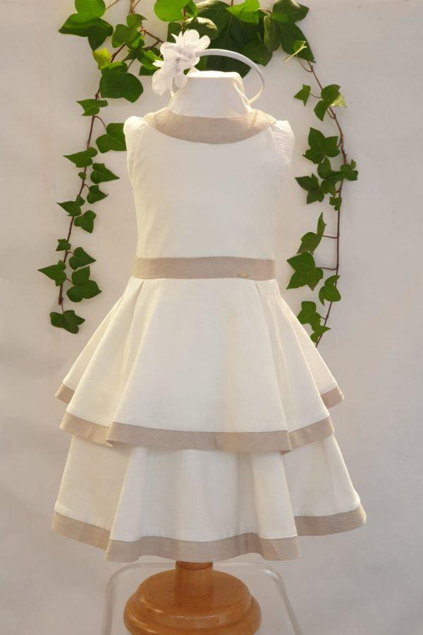 Robe blanc beige Mayoral 51 euros du 2 ans au 9 ans