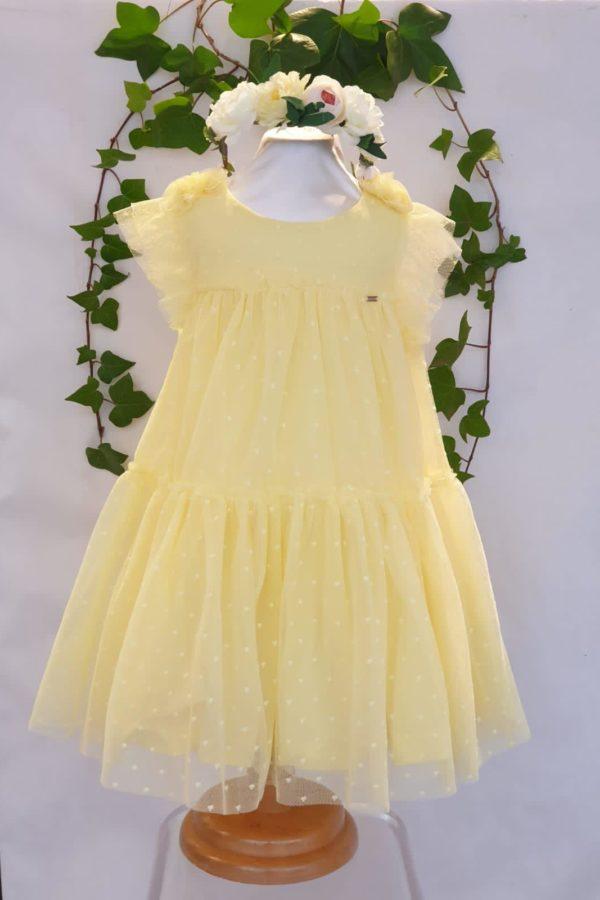 Fille robe tulle jaune mayoral du 2 ans au 9 ans 45 euros