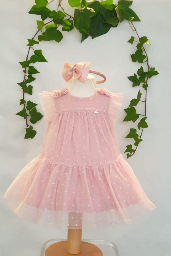 Layette robe Mayoral tulle rose du 6 mois au 3àns 37 euros