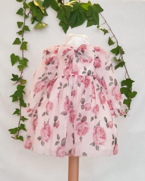 Layette robe patachou fleuri rose du 6 mois au 3 ans 59 euros