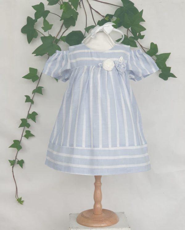 Layette robe rayé ciel mayoral 32 euros du 6 mois au 3 ans
