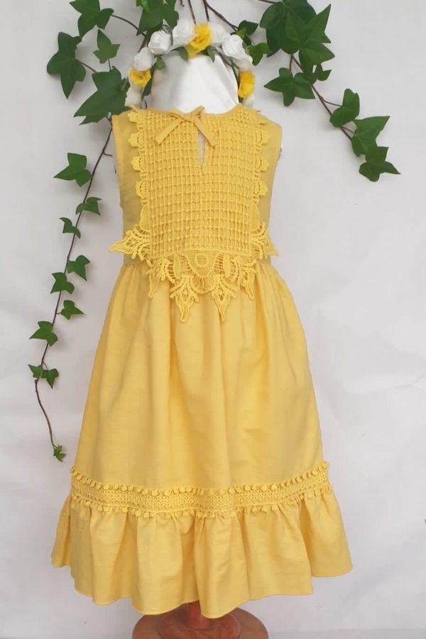 Robe mayoral coton jaune du 4 ans au 9 ans 40 euros