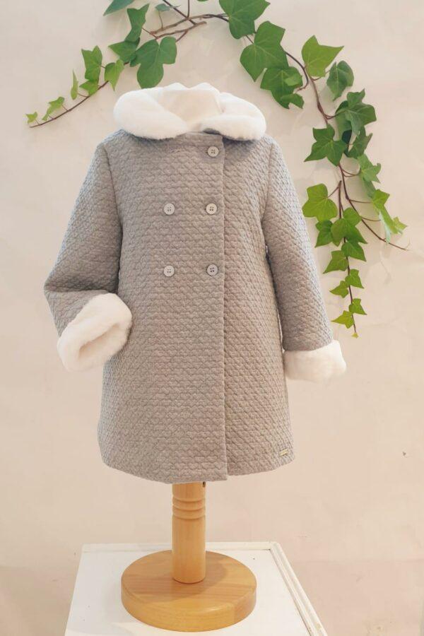 Layette fille manteau gris mayoral 45 euros du 6 mois au 3 ans