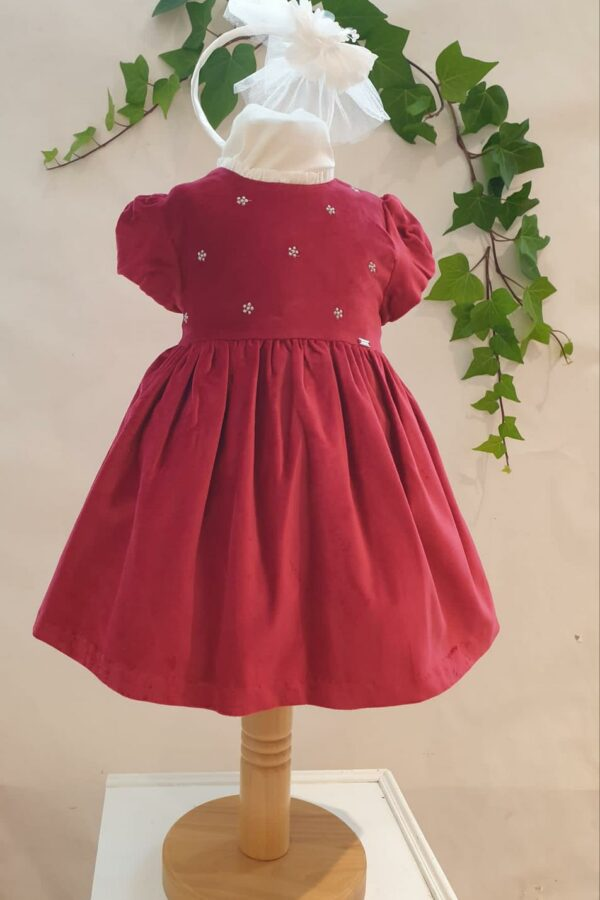 Layette fille robe mayoral velours rouge du 6 mois au 3 ans 45 euros