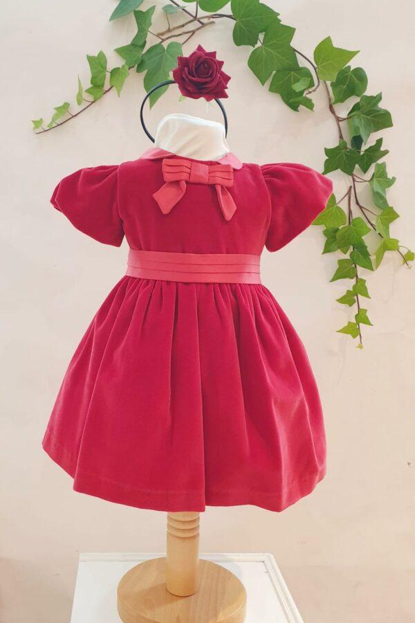 Layette fille robe velours patachou rouge du 6 mois au 3 ans 75 euros