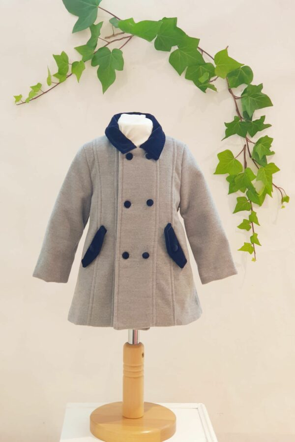 Layette garçon manteau gris du 6 mois au 3 ans 75 euros