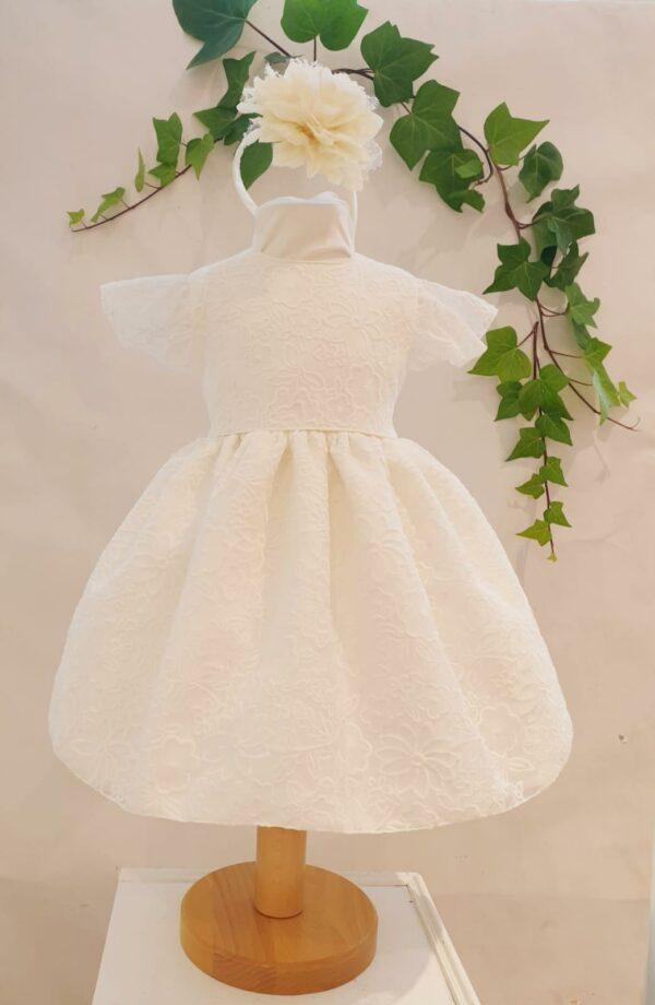 Robe Jennifer 90 euros robe en dentelle écrue doublée coton jupon de tulle sous la robe fabriquée dans nos ateliers parisiens