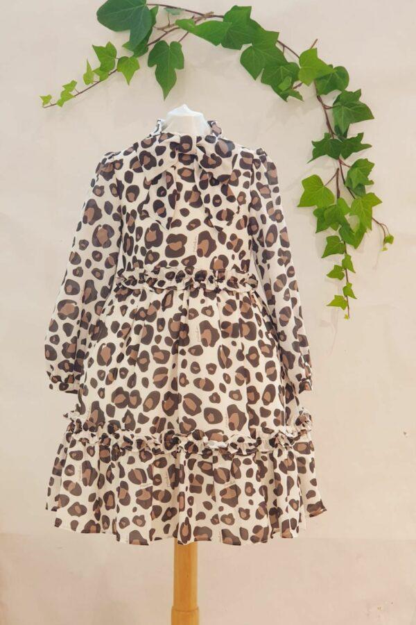 Robe patachou léopard 70 euros du 4 ans au 14 ans