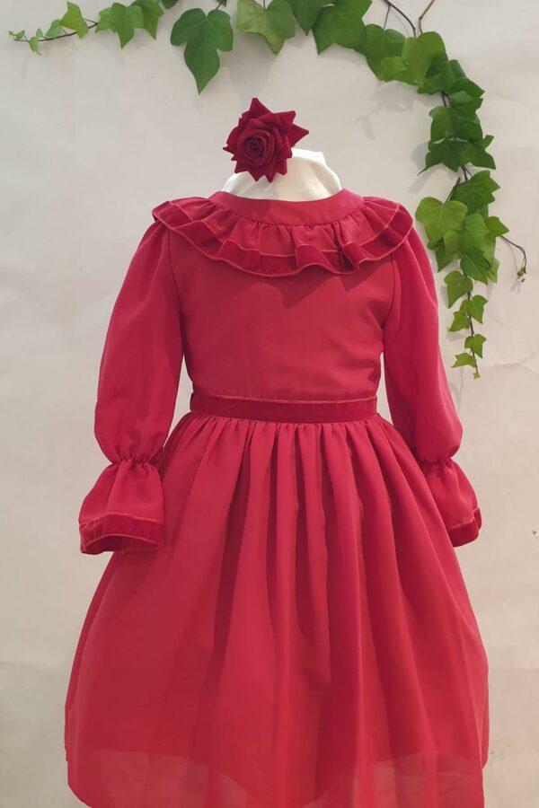 Robe patachou rouge 75 euros du 4 ans au 12 ans