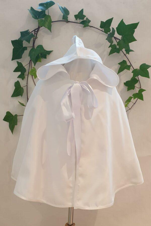 Cape ottoman blanc 45 euros doublée coton blanc fabriquée dans nos ateliers parisiens